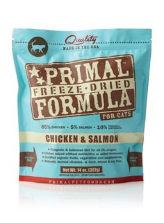Best selling of Primal Pet Foods Freeze-Dried Feline Chicken and Salmon Formula