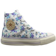 Converse Chuck Taylor Hi Top Floral Womens Lace Up Canvas Trainers (537227C D8)