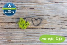Camp PBS Parents - make art using nature