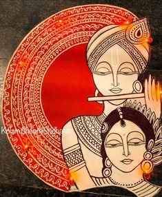 Mandala Doodle, Mandala Art Lesson, Mandala Drawing, Krishna Art, Radhe Krishna, Lord Krishna, Canvas Painting Designs, Diy Canvas Art, African Art Paintings