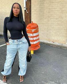 FlyFashionDoll — @teresa_cc #FlyFashionDoll #Dress #Haute #Pants... Curvy Outfits, Dope Outfits, Garner Style, Grown Women, Fashion Killa, Denim Fashion, Looking For Women, Aesthetic Clothes, Mom Jeans