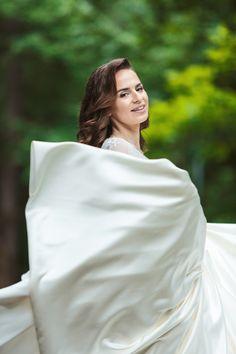 Stunning bride wearing a dress designed by Romana G. Greece Wedding, Romantic Weddings, Bridal Portraits, Beautiful Bride, Designer Dresses, Wedding Day, Couture, Photography, Women