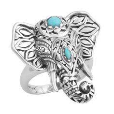 Carved Third Eye Elephant Ring by Indraspirit on Etsy