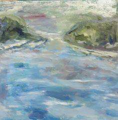 """Conroy oil on board square """"The River"""" www.clconroyartworks.com"""