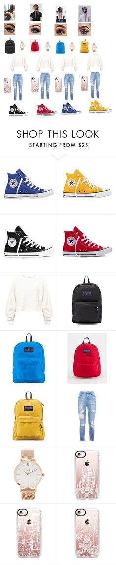 """Me and my Best Friends wore this today for quad squad"" by laurenp18 ❤ liked on Polyvore featuring Converse, Miss Selfridge, JanSport, CLUSE, ASAP and Casetify"