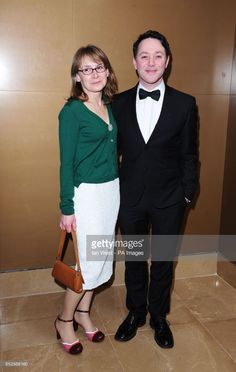 Reece Shearsmith and wife Jane arriving for the 2014 London Critics' Circle Awards, at the May Fair Hotel, Stratton Street, London. Tv Radio, Tv On The Radio, Steve Pemberton, Reece Shearsmith, League Of Gentlemen, Mark Gatiss, Britain, Gentleman, Awards