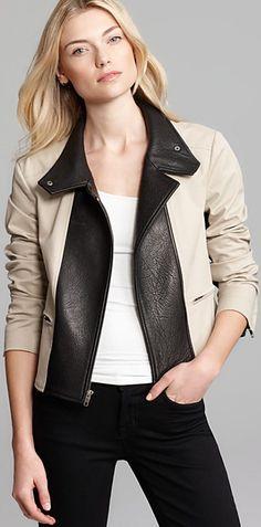 Theory Leather Combo Jacket