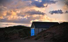 Newburgh, Scotland, beach, nature, landscape, sunset, orange, green, blue by PicClick on Etsy