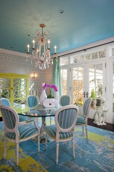 interior design  classic with a twist | jacobson interior design blue ceiling interior design carpet ...