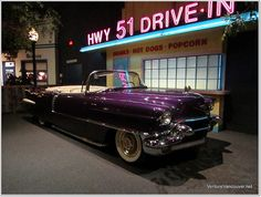 Purple Cadillac Eldorado    cadallac eldorado which elvis got painted purple