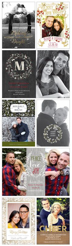 Getting Married in 2016? Combine your Holiday Card with your Save the Date.