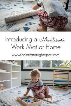 Introducing a Montessori work mat or rug with a toddler at home What Is Montessori, Montessori Playroom, Montessori Practical Life, Montessori Homeschool, Montessori Toddler, Montessori Activities, Toddler Learning, Montessori Materials, Infant Activities