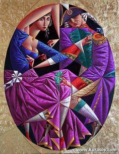 Biography and images of artist Georgy Kurasov, featured at the East West Fine Art gallery in Naples, Florida. Cubist Artists, Art Deco Artists, Cubism Art, Modern Artists, Artist Art, Painting People, Couple Painting, Painting Art, Russian Art
