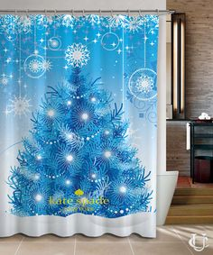 New Hot Christmas Cute Pattern Kate Spade Shower Curtain