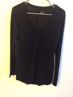 New Women Black Long Sleeve S/P Top   | eBay