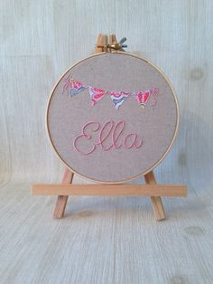 embroidered hoop art . personalized gifts . hand embroidered word art . custom name embroidery . nursery decor . wall decor . flag . bunting by Embroiderwee on Etsy https://www.etsy.com/listing/195707537/embroidered-hoop-art-personalized-gifts