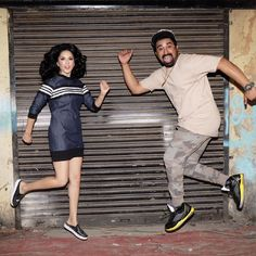 First day of shoot with @rannvijaysingha and we are already running away!! Haha just kidding!!! @mtvsplitsvilla photo by @tomasm