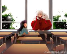 Kagome and Inuyasha... only on season 5 cant wait to finish one of my fav anime shows