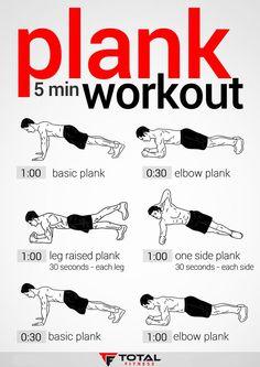 Plank 5 min #Workout