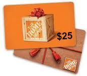 $25 gift card for HD. Tools are nice!!