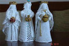 Best 9 Crochet white angel figurine religious gift Christmas ornament tree decor godmothers present Christening guardian lace angel – SkillOfKing. Knit Christmas Ornaments, Crochet Ornaments, Christmas Crochet Patterns, Holiday Crochet, Crochet Snowflakes, Christmas Knitting, Christmas Angels, Christmas Christmas, Thread Crochet