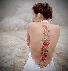 sweet flowered spine tat
