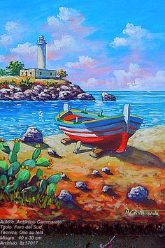 Beautiful Paintings, Beautiful Landscapes, Colourful Art, Watercolor Cards, Lakes, Sketching, Boats, King, Park