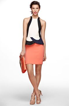 very cool dvf peplum dress