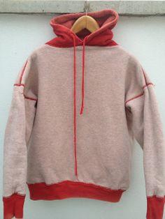Two Tone Hooded Sweat parka, Vintage Denim, Vintage Shirts, Vintage Outfits, Jacket Style, Hoodies, Sweatshirts, Parka, Indigo, Menswear