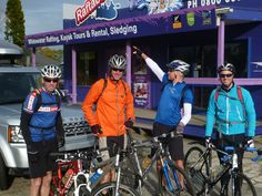 At Morea (top of Lake Rotorua) - GT2013 starts -Jeff, Nige, Neil and Rich - yes we're off that direction!