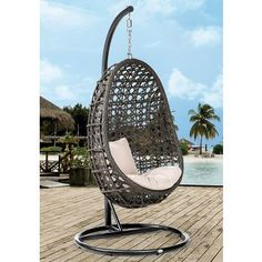 Simple DESTINY H ngesessel Coco Polyrattan anthrazit ohne Gestell
