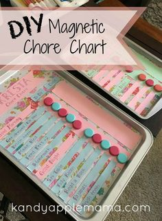 DIY Chore Chart  ~ Magnetic Chore Chart ~ Kids Chore Chart