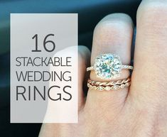 You'll fall in love with this wedding band trend. http://www.mywedding.com/articles/stackable-wedding-bands-youll-love-collecting/?utm_source=pinterest&utm_medium=social&utm_campaign=fashion_style