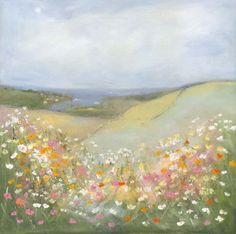 Coastal meadow--spectacular! Check out everything she's done at suefenlonart.co.uk