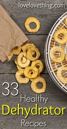 Dehydrating is a great way to eat healthy all year long! Try these 33 healthy dehydrator recipes