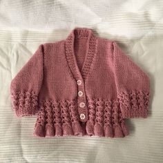 Pale Rose Toddler Cardigan, Girl's Bell Bottomed Cardigan, Toddler Girl's Cardigan, Bell Bottomed Cardigan, Made To Order, Choice Of Colour by BobtailsBoutique on Etsy