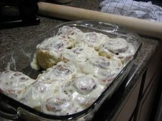 These remind me of my Grandma Nancy's Cinnamon Rolls...my favorite were the ones w/ frosting like these...mmmm, so good!