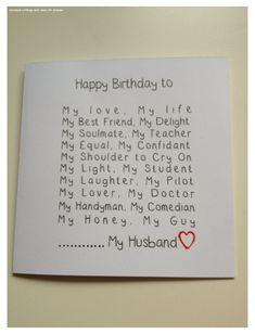 Handmade Gifts For Boyfriend, Valentine Gifts For Husband, Birthday Cards For Boyfriend, Birthday Cards For Men, Handmade Birthday Cards, Boyfriend Gifts, Birthday Cards For Husband, Funny Boyfriend, Valentines