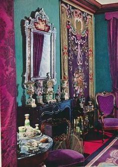 Purple & teal beautiful rooms