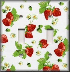 Light Switch Plate Cover Sweet Strawberries Kitchen Strawberry Home Decor Strawberry Patch, Strawberry Fields, Strawberry Shortcake, Strawberry Hill, Switch Plate Covers, Light Switch Plates, Inexpensive Home Decor, Cheap Home Decor, Red Kitchen