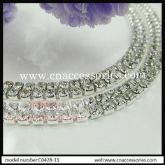 wholesale 2 rows ss16 rhinestone cup chain 295e4f15d182