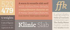 Free fonts Klinic