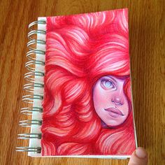 Little bitty drawing 😌 #AmyKArt #amyminchew #drawing #sketch #coloredpencil #originalartwork #redhead #ginger #artist