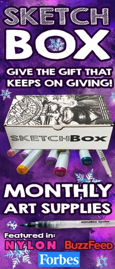 Every month we deliver new and unique art supplies for you to create with.  Simply the best gift for that special artist in your life.  http://www.getSketchBox.com
