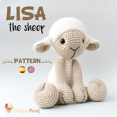 Please note that this is a crochet sheep PATTERN, NOT the finished toy. The PDF amigurumi tutorial will be available for download immediately after purchase. Available in English and Spanish. ABOUT THE PATTERN: This crochet pattern contains a detailed description of how to create Lisa