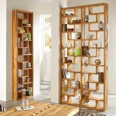 Raumteiler Woody, Teak-Holz Vorderansicht
