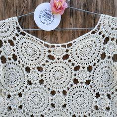 Crochet Lace Dress, Crochet Top, Crochet Clothes, Boho Chic, Couture, Tops, Dresses, Fashion, Crochet House
