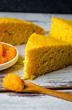 Pumpkin Cornbread will become a staple in your kitchen in fall. This is a dense and moist cornbread with a subtle pumpkin flavor. | giverecipe.com | #pumpkin #cornbread #bread #baking #fall #fallrecipes