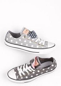 Polkadot converse love them!!