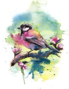 Watercolour Birds - www.elisemartinson.com